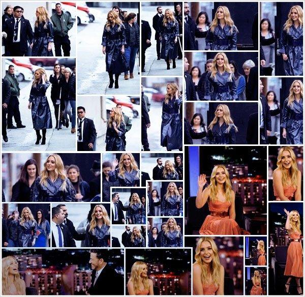 13.02.19 : Jessica Rothe s'est rendu à l'enregistrement de l'émission  Jimmy Kimmel Live située dans un quartier de  Los Angeles !  La diffusion aura lieu le 14, Jessica s'est rendu à l'émission pour la promo de Happy Death Day 2U - Beau Top pour sa tenue de l'émission