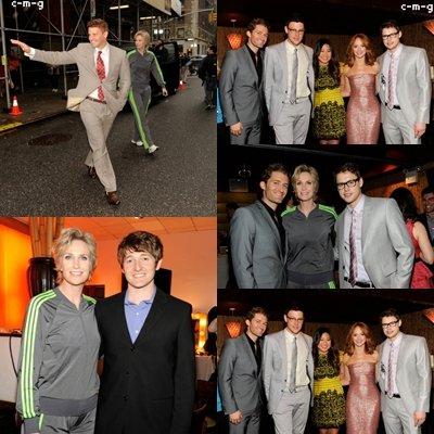 e Cast étaient présent le 16 Mai ux Fox Uprfronts .C'est Matthew Morrison, Jane Lynch, Jayma Mays, Cory Monteith, Jenna Ushkowitz, Chord Overstreet et Darren Criss qui ont représenté la série .