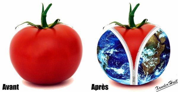 Tutoriel Une Tomate Dans le Planète Terre Avec Photoshop CS6 Extended 