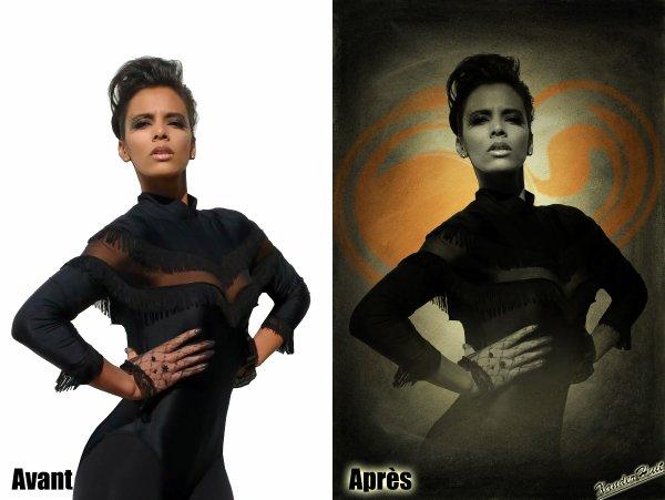 Tutoriel Noir Et Blanc, Texture Et Brushe De Fond Avec Photoshop CS6 Extended 