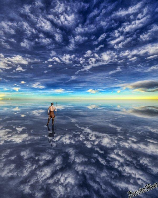 Tutoriel Créer Un Reflet De Ciel Et D'Un Personnage Avec Photoshop CS6 Extended 
