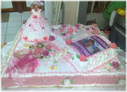 decoration gateau bapteme antillais