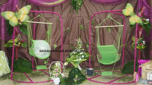 mariage th me nature verte gateaux antillais. Black Bedroom Furniture Sets. Home Design Ideas