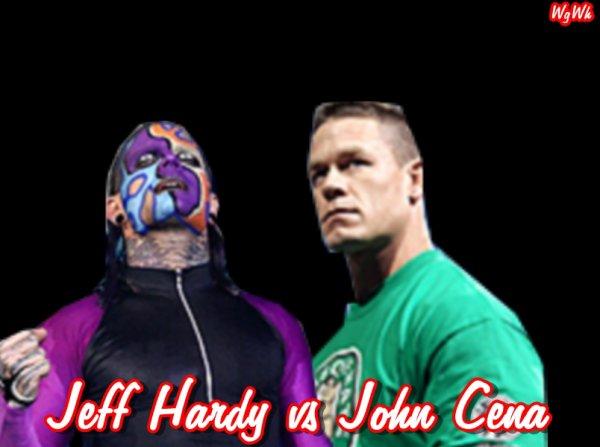1er Duel : John Cena vs Jeff Hardy