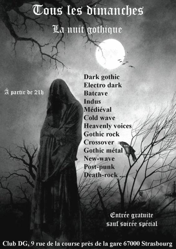 tous les dimanche la nuit gothique