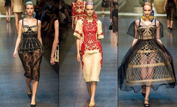 Défilé Dolce & Gabbana - Printemps/été 2013