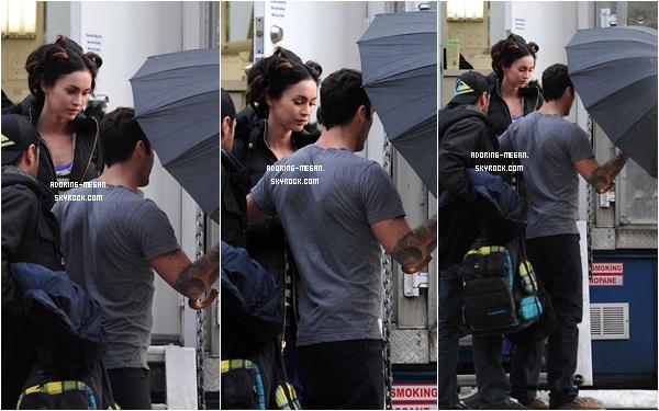 """Megan sur le tournage du film """" Friends With Kids """" Again, Again, Again, and Again !! Les photos ont été postés dans l'ordre de tournage"""