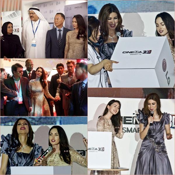 Le 6 Juin était la journée de Megan Fox car elle était l'invitée star du lancement de la gamme de téléviseurs 3D Cinema dans les régions Moyen-Orient et Afrique par LG Electronics.