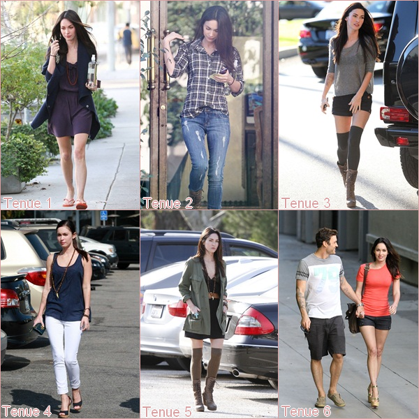 Du Top des tenues de Megan en 2011, quelle est ta favorite ?