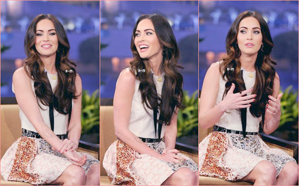 27 Février 2012 Megan se rend au Tonight Show with Jay Leno