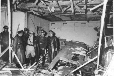 Le lieu de l'attentat contre Adolf Hitler, à Rastenburg, le 20 juillet 1944