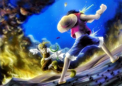 batail luffy contre ussop