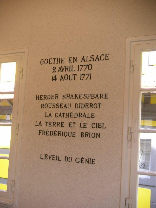 Sur les traces de Goethe - Sessenheim