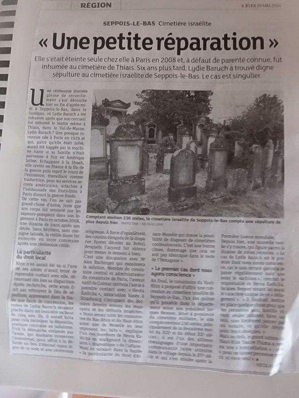 L'originalité de l'Alsace : les cimetières confessionnels