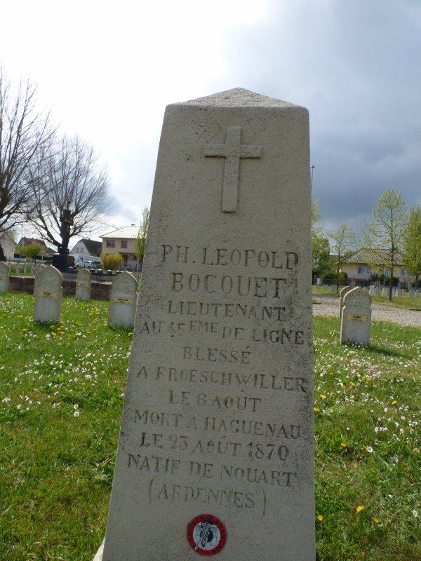 Tombe de la guere de 1870 - Philippe Leopold Bocquet