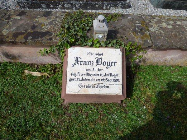 Tombe guerre de 1870 - Franz Boyer (+ 22/09/1870)