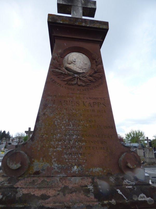 Hilaire Kapps - cimetière de Haguenau