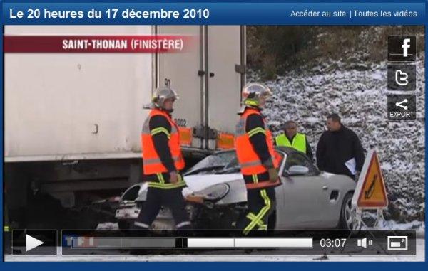 Intervention des SP Landerneau neige du 17 décembre.