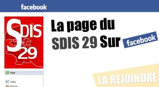La page du SDIS 29 Sur Facebook
