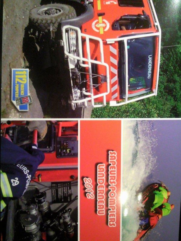 Calendrier 2012 Sapeurs-Pompiers de Landerneau