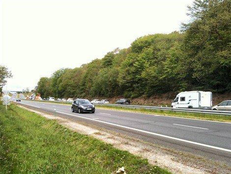 Accident sur la N165 à hauteur de Loperhet (sens Quimper-Brest) Ce matin