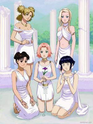 Les 5 filles en blanc