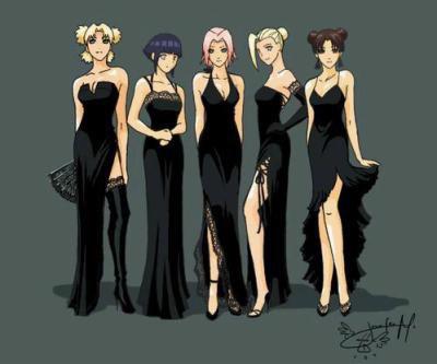 les 5 filles en noir