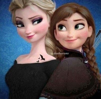 Frozen la reine des neiges elsa et anna fashion - Princesse anna reine des neiges ...