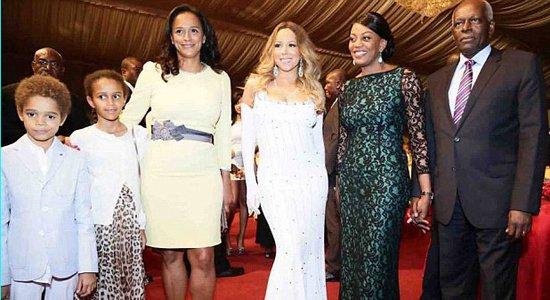 Un cachet de 1 million de dollars pour Mariah Carey après avoir chanté pour le président angolais Dos Santos