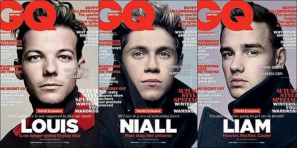 """. Un  nouveau photoshoot des 1Dpour le magazine """"GQ British""""ou ils font chacun la couverture. ."""