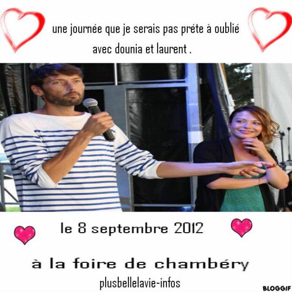 dounia coesens et laurent kérusore à la foire de chambéry du 8 septembere 2012