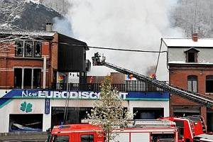 Trooz: gros incendie chez New Euro Discount