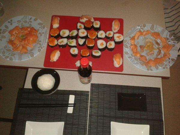 Soirée Sushi, sashimi et maki