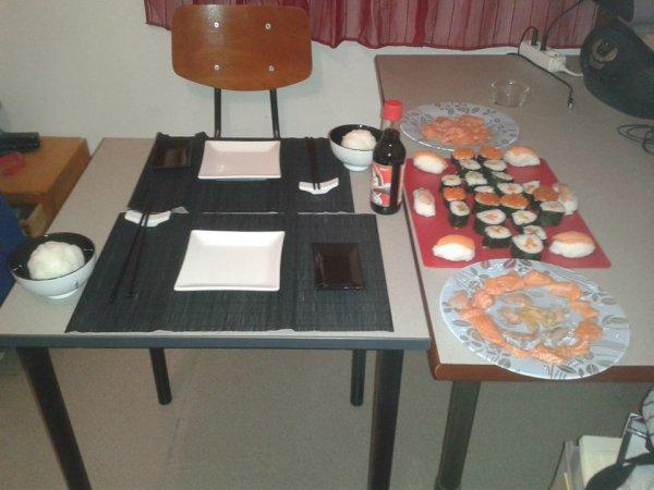 Préparation de la table !