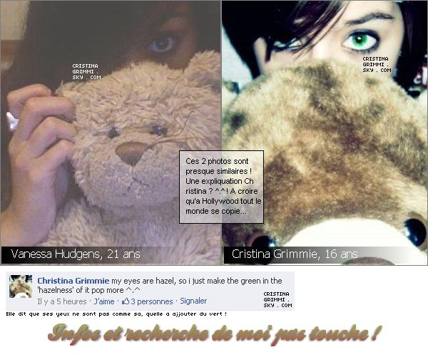 Le 10 Oct : Christina à poster une nouvelle photo ! Mais c'est du déjà vue ! Toutes les recherches ont étaient éxécutés par mes soins merci de respecter !