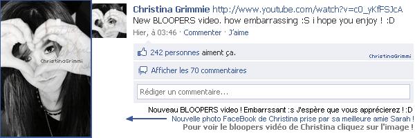 16 oct 2010 : Christina à poster une nouvelle vidéo & une nouvelle photo !