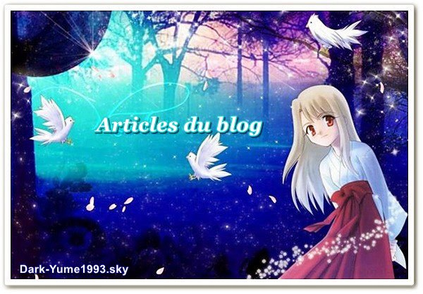 Articles du blog