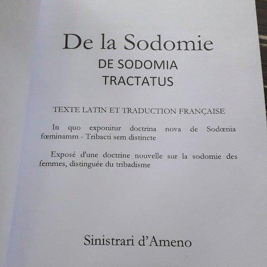 LE TRAITÉ DE LA SODOMIE