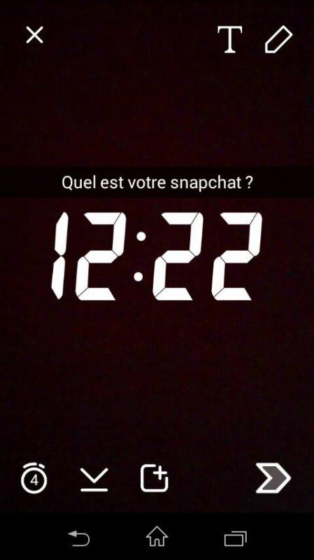 As-tu Snapchat ?