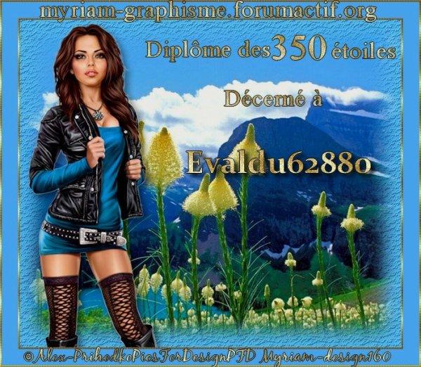 Merci mon amie Myriam pour le diplome des 350 etoiles ***
