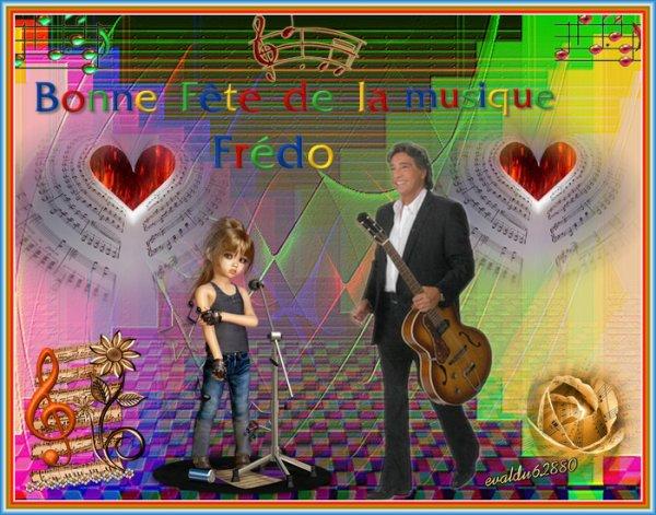 Bonne Fête de la Musique  à Frédéric François **