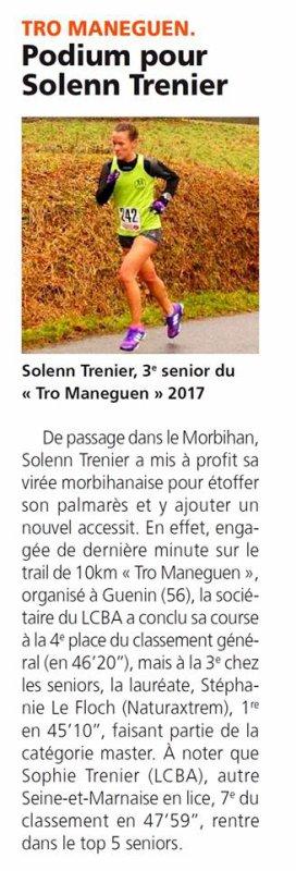 Trail de Guénin, le 12 Février 2017.