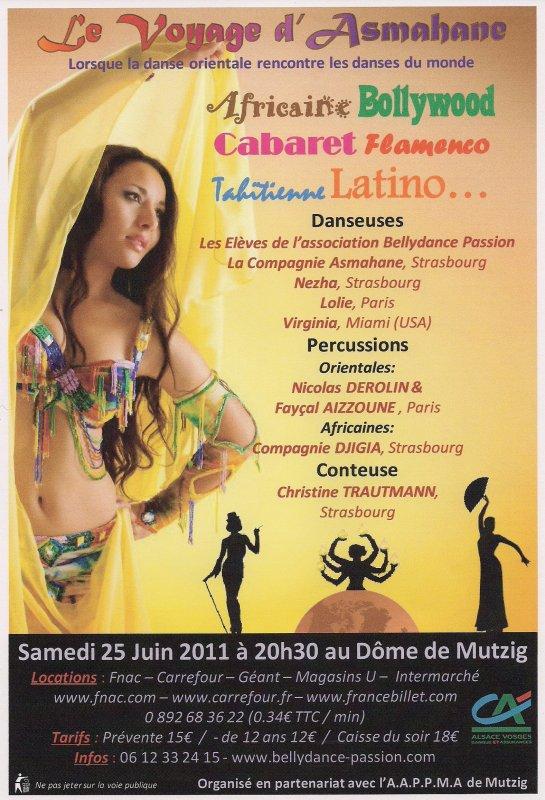 Le Voyage d'Asmahane - Spectacle de danse orientale - le 25 juin 2011