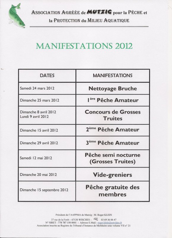 MANIFESTATIONS 2012