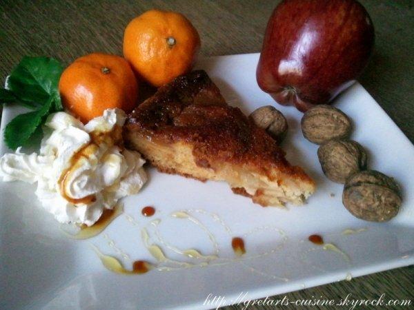 gateau renversé aux pommes caramélisées