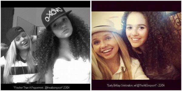 22 Avril 2012 : Madison passe du temps avec sa meilleure amie Alli Simpson, Vidéo + Photos.