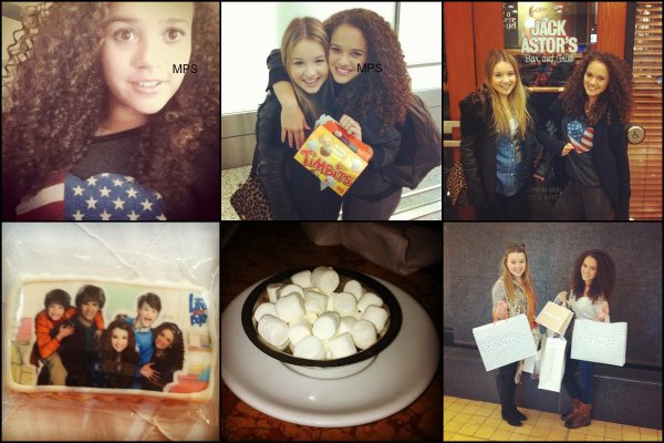 30 Avril 2012 : Madison revient de Toronto. (Photos)