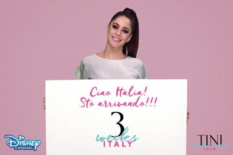 Le compte à rebours a commencé ! Seulement 3 semaines avant le #GotMeStartedTour en Italie !