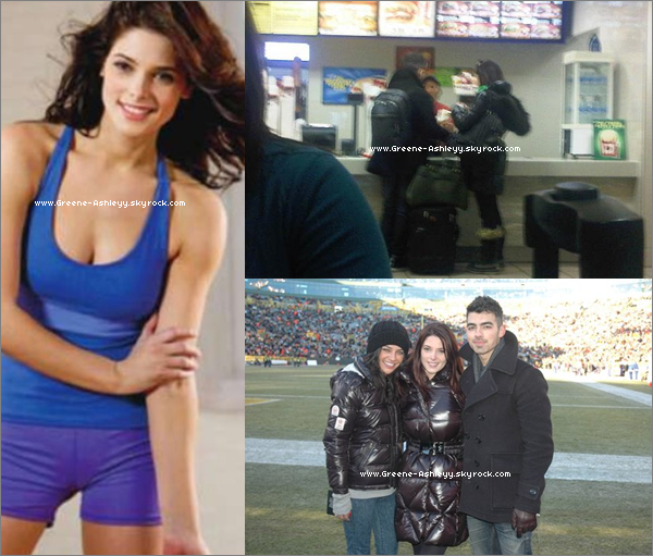 ".  décembre 2010  - Ashley avec Joe au Burger King de l'aréoport de Dallas. Ashley Greene avec Joe Jonas et Jessica Szohr. Et une nouvelle photo de Ash pour le magazine "" Shape Magazine ""      ."