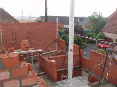 suite chantier maçonnerie blocs 2éme étage